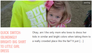 LINK Quick Switch {blindingly bright} Big Shirt to Little Girl Dress