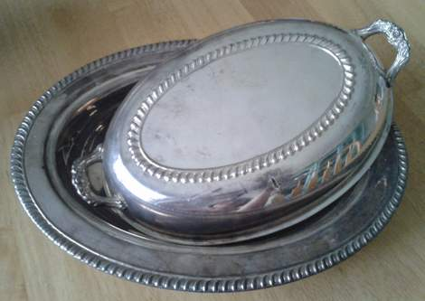 05 top of china cabinet frames silver covered dish