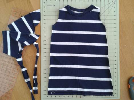 06 simple tutorial shirt to cinch dress