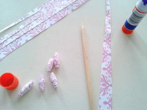 DIY paper beads supplies