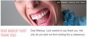LINK Dear Makeup {just thank you}