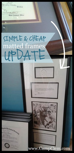 simple & cheap office frames makeover