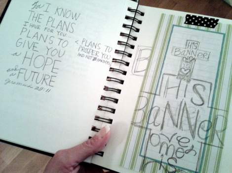 01 scripture doodle journal and canvas art