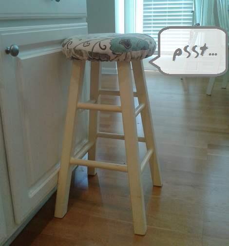 02 blue stool makeover