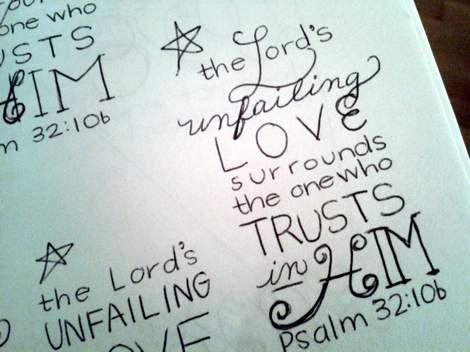 03 scripture doodle journal and canvas art