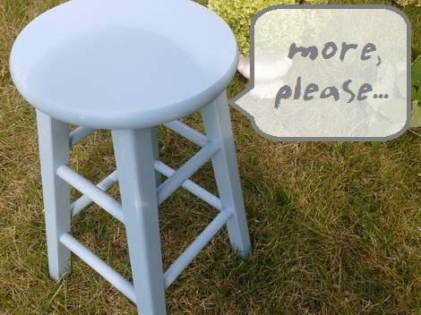 04 blue stool makeover