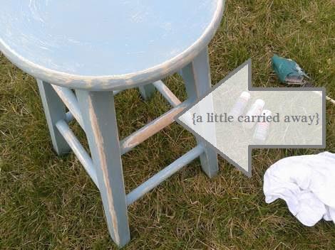 06 blue stool makeover