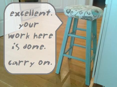 08 blue stool makeover