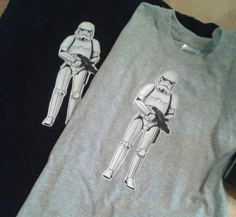 08 star wars birthday party storm trooper shirts