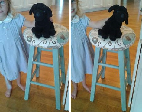 09 blue stool makeover