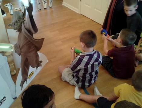 11 star wars birthday party storm trooper blast game