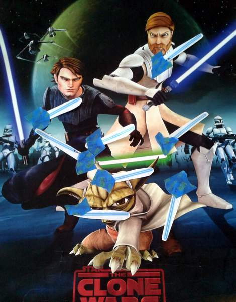 12 star wars birthday party pin the light saber on the jedi game