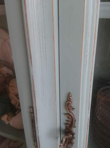china cabinet antiquing door after
