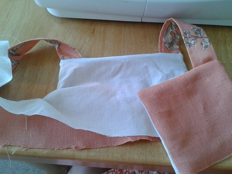 02 Sis sew new outfits melon bodice sewing progress