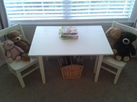 24 little girl bedroom table and chairs with stuffed animals