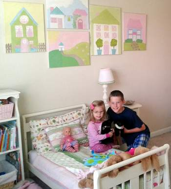 26 little girl bedroom with big bro
