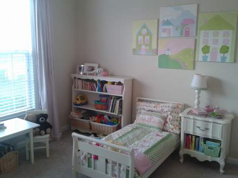 28 little girl bedroom after close up
