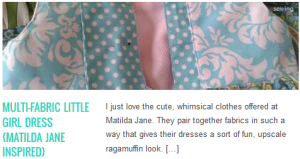 LINK Multi-Fabric Little Girl Dress matilda jane inspired
