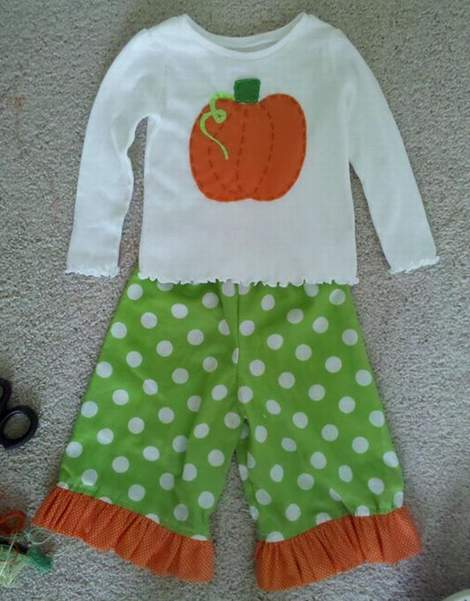 05 DIY pumpkin shirt ruffle pants