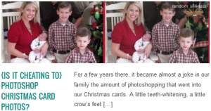 LINK {is it cheating to} photoshop Christmas Card photos