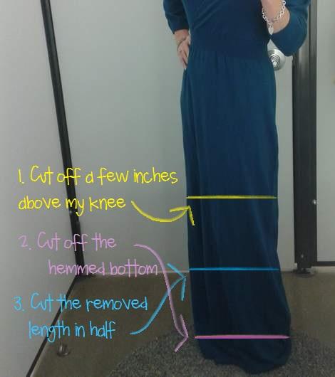 04 teal dress makeover cut off marks