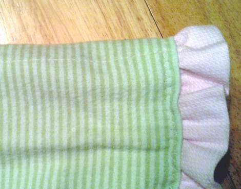 05 swaddle to pillowcase upcycle side sew