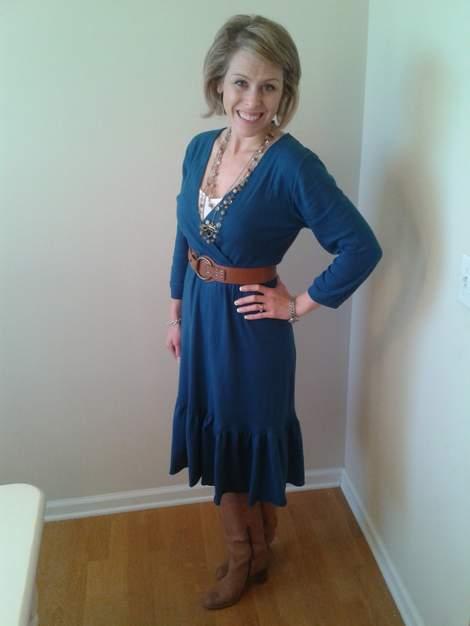 07 teal dress makeover after 2