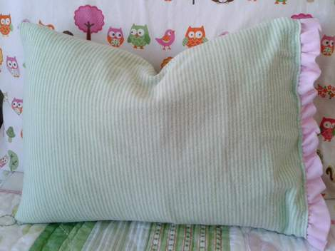 10 swaddle to pillowcase upcycle after