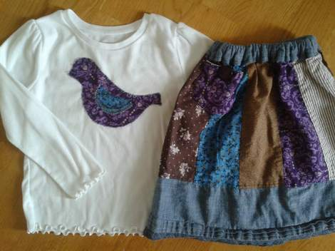 blue ppl skirt birdie shirt 12