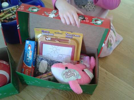 operation christmas child sissy's gift