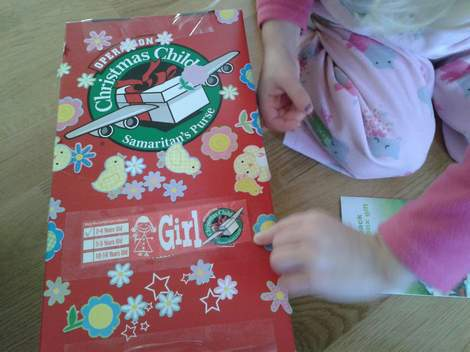 operation christmas child stickers