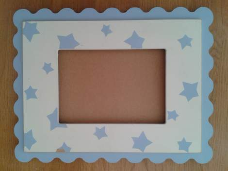 polka dot frame makeover 01
