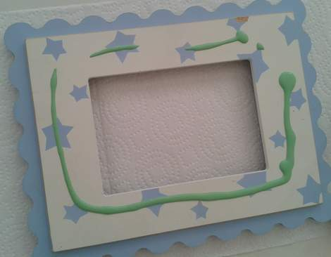 polka dot frame makeover 02