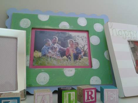polka dot frame makeover 07'