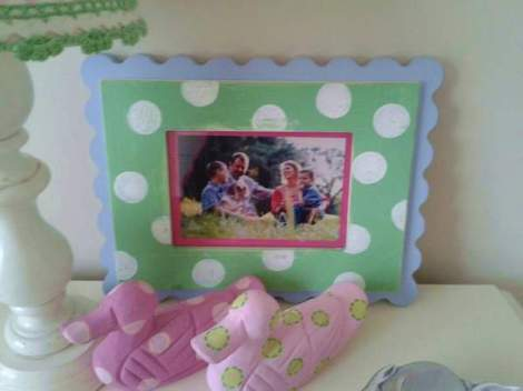 polka dot frame makeover 08