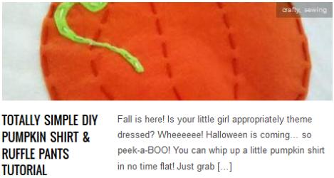 link Totally Simple DIY Pumpkin Shirt & Ruffle Pants Tutorial