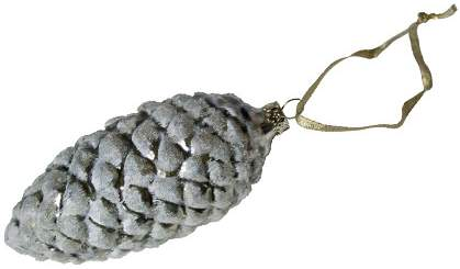 silver pinecone ornament