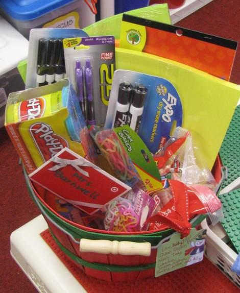 teacher supply gift basket