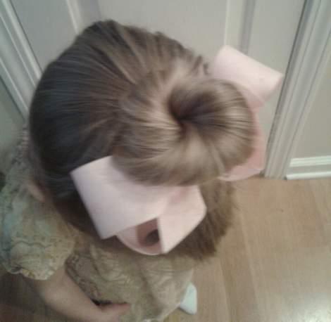 tinkerbell hair bun