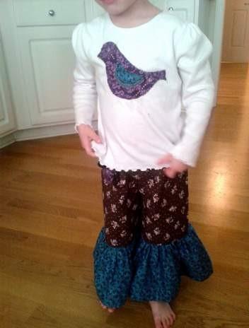 bird shirt ruffle pants 06