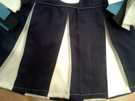 DIY navy and white cheer uniform skirt