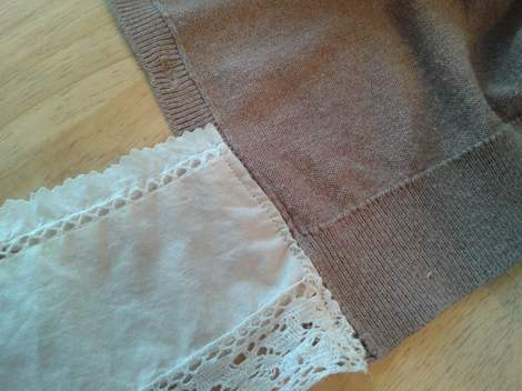 lace and cardi upcycle love 10