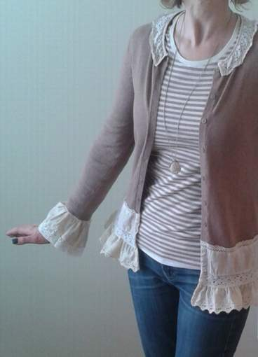 lace and cardi upcycle love 21