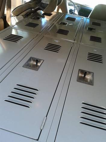 lockers in car