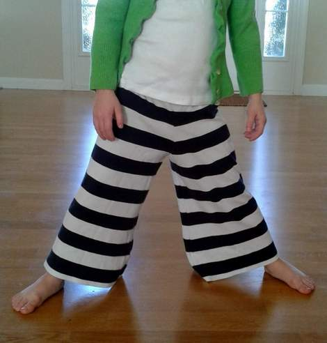 striped shirt to kid pants upcycle 13