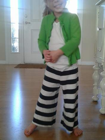 striped shirt to kid pants upcycle 14
