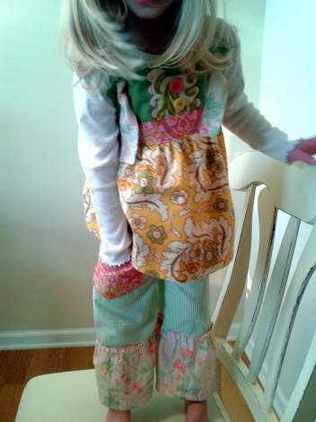 upcycled again knot top and pants