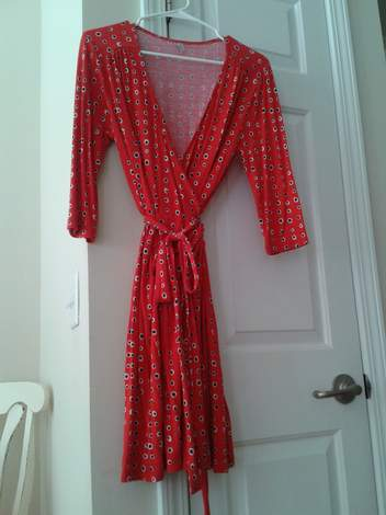 wrap dress to cardi upcycle 01 before
