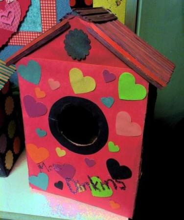 birdhouse valentines box 1