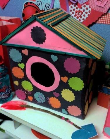 birdhouse valentines box 2